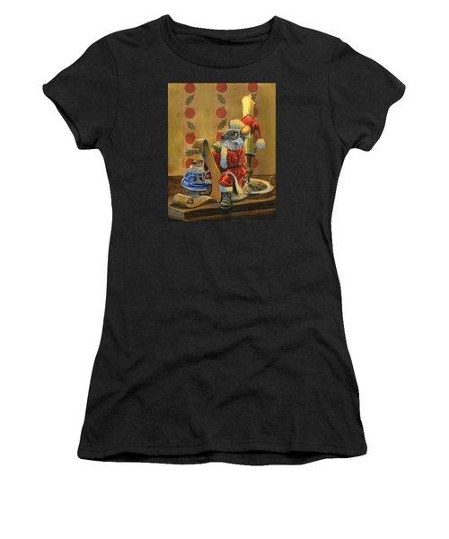 Santa Mouse Women's T-Shirt (Athletic Fit)