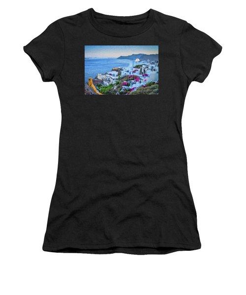 Santorini Greece Dwp416136  Women's T-Shirt