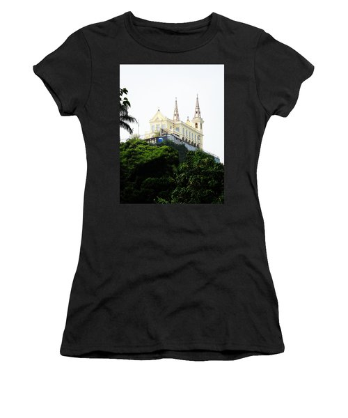 Santuario Da Penha Women's T-Shirt (Junior Cut) by Zinvolle Art
