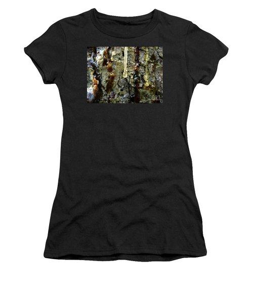 Women's T-Shirt featuring the photograph Sap Drip by Robert Knight