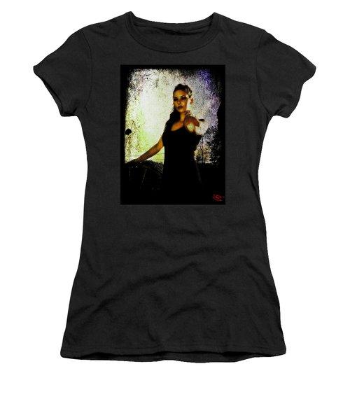 Women's T-Shirt (Junior Cut) featuring the digital art Sarah 1 by Mark Baranowski