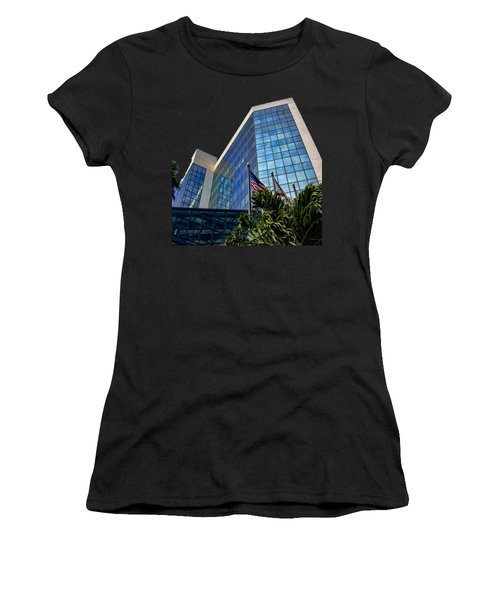 Sarasota Architecture Glass Transparency Women's T-Shirt (Athletic Fit)
