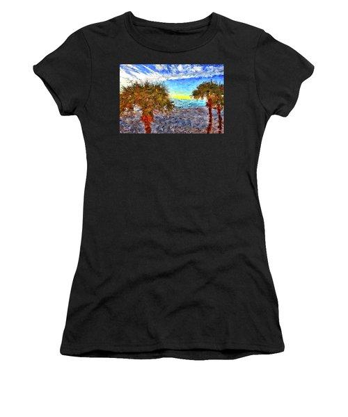 Sarasota Beach Florida Women's T-Shirt (Athletic Fit)