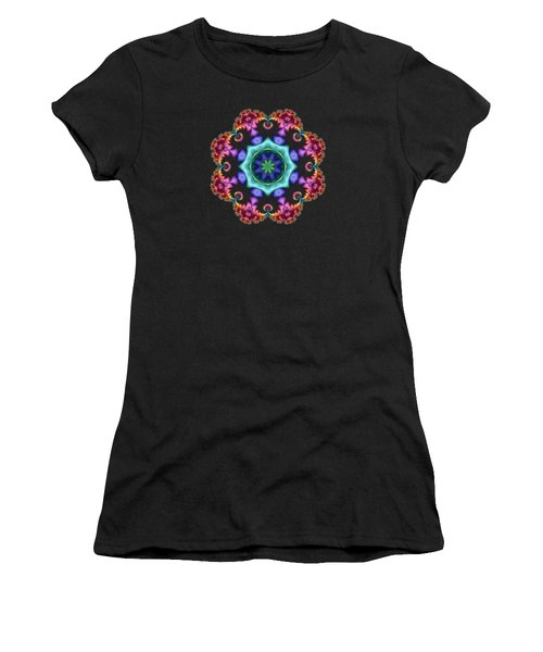 Satin Rainbow Fractal Flower I Women's T-Shirt