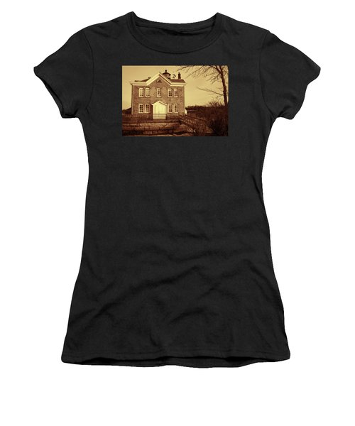 Saugerties Lighthouse Sepia Women's T-Shirt (Athletic Fit)