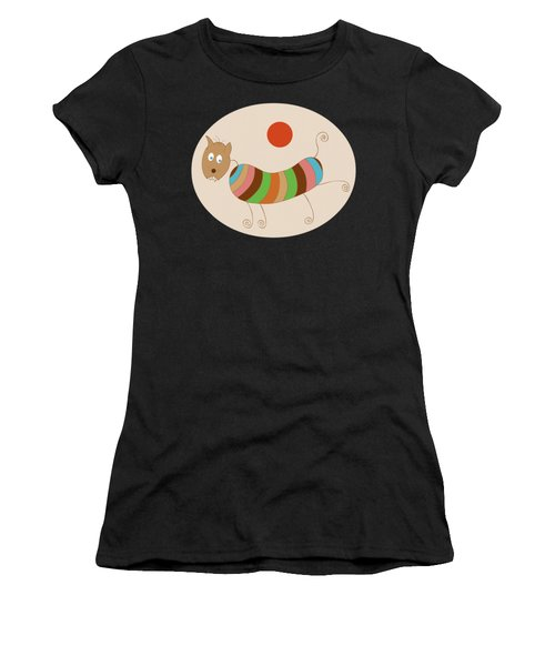Sausage Dog In Ketchup Sunset Women's T-Shirt (Athletic Fit)