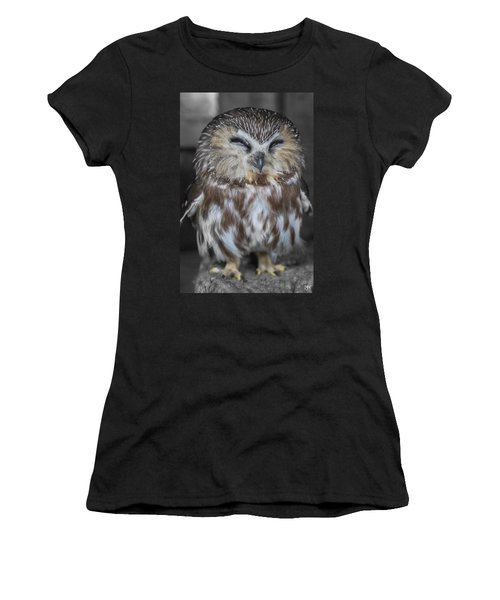 Saw Whet Owl Women's T-Shirt (Athletic Fit)