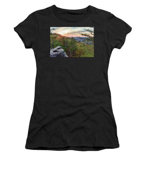 Sawnee Mountain And The Indian Seats Women's T-Shirt (Athletic Fit)