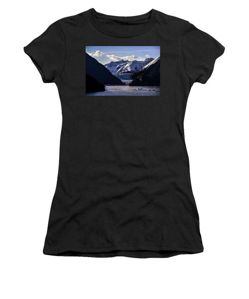 Sawyer Glacier In Tracy Arm Fjord Women's T-Shirt