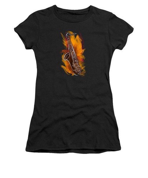 Sax Craze Women's T-Shirt (Junior Cut) by Bedros Awak