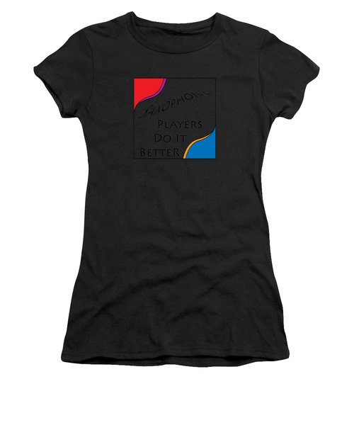 Saxophone Players Do It Better 5642.02 Women's T-Shirt (Athletic Fit)