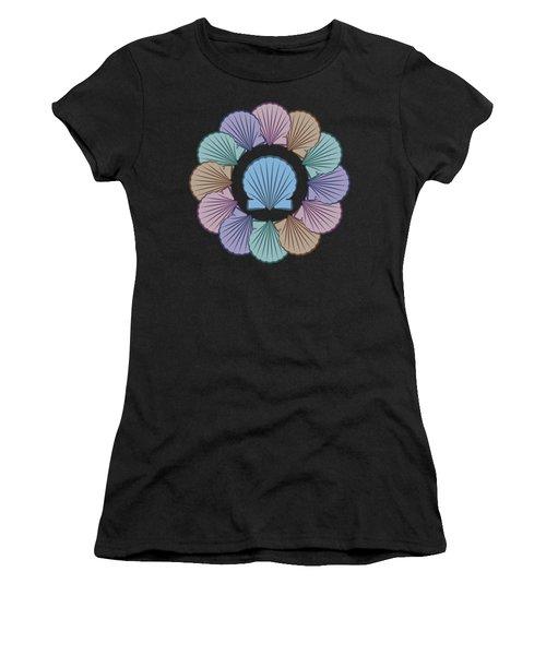 Scallop Shells Circle Multi Color Women's T-Shirt