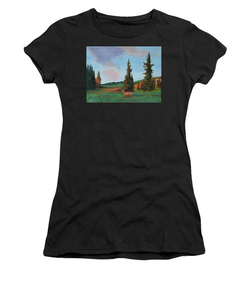 Scapegoat Summer Sunset Women's T-Shirt (Athletic Fit)