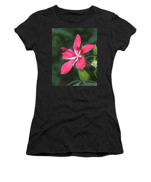 Scarlet Hibiscus #4 Women's T-Shirt