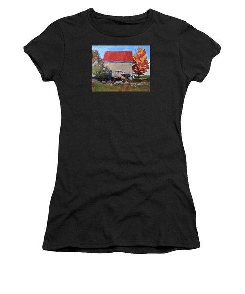 Schoolhouse Farm, Warren, Maine Women's T-Shirt (Athletic Fit)