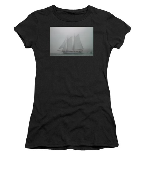 Schooner In Fog Women's T-Shirt