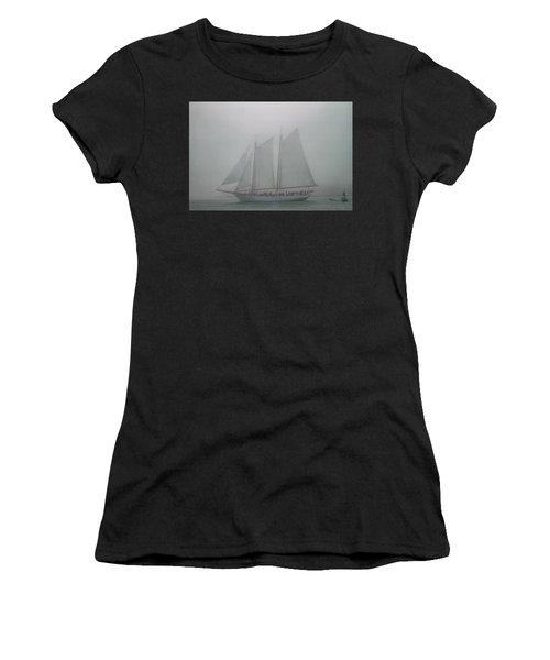 Schooner In Fog Women's T-Shirt