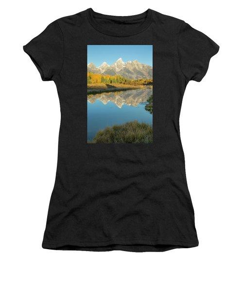 Women's T-Shirt featuring the photograph Schwabacher Sunrise 2 by D Robert Franz