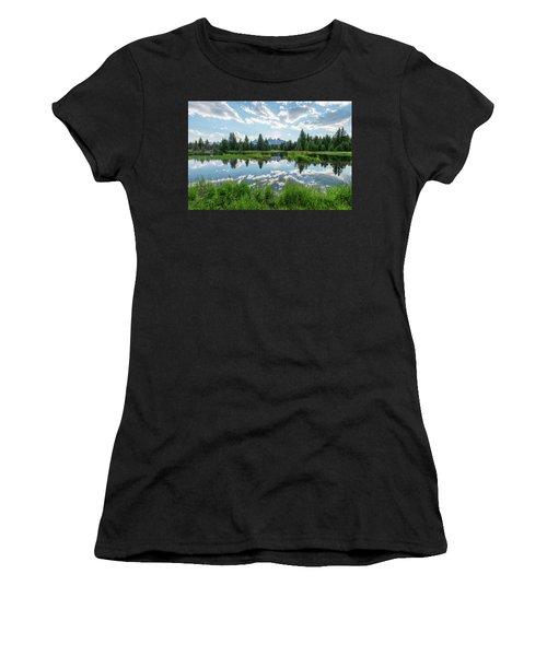 Women's T-Shirt (Junior Cut) featuring the photograph Schwabacher's Landing by Dustin LeFevre