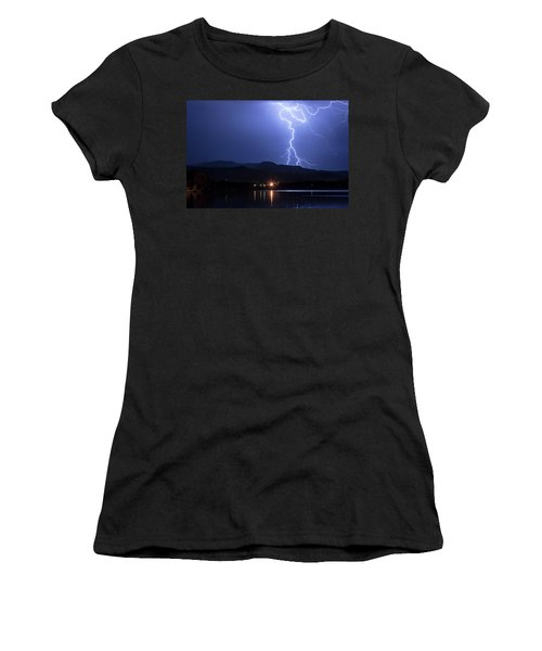 Women's T-Shirt (Junior Cut) featuring the photograph Scribble In The Night by James BO Insogna