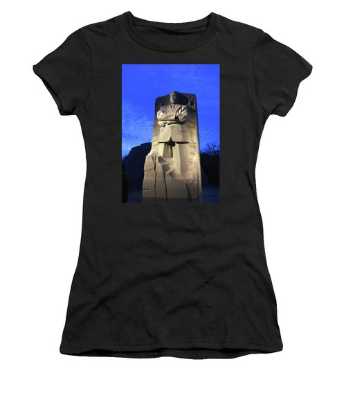 Sculptured Profile Martin Luther King Jr. Women's T-Shirt (Athletic Fit)