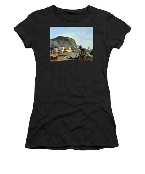 Sea And Mountain With Boats Women's T-Shirt