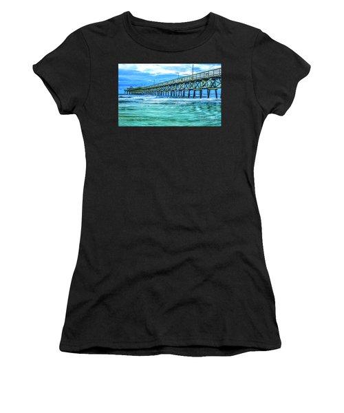 Sea Blue Cherry Grove Pier Women's T-Shirt