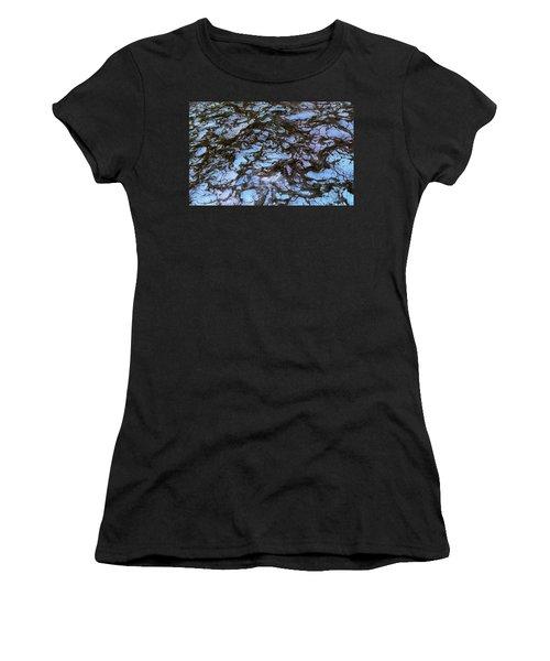 Sea Foam Black And Blue Women's T-Shirt