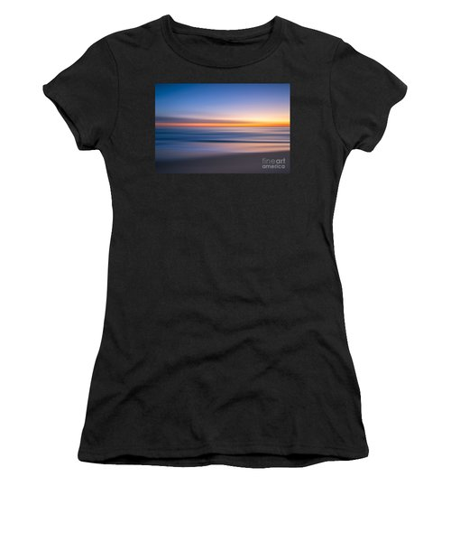 Sea Girt New Jersey Abstract Seascape Sunrise Women's T-Shirt (Athletic Fit)