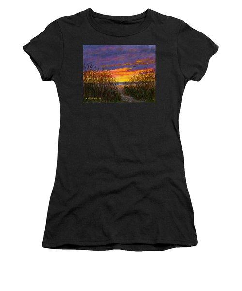 Sea Oat Sunrise # 2 Women's T-Shirt (Athletic Fit)