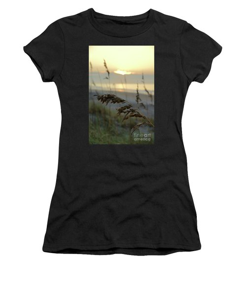 Sea Oats At Sunrise Women's T-Shirt (Athletic Fit)