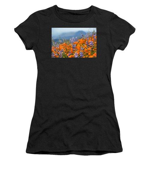 Sea Of California Wildflowers Women's T-Shirt