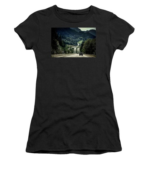 Sea To Sky Highway Women's T-Shirt (Athletic Fit)