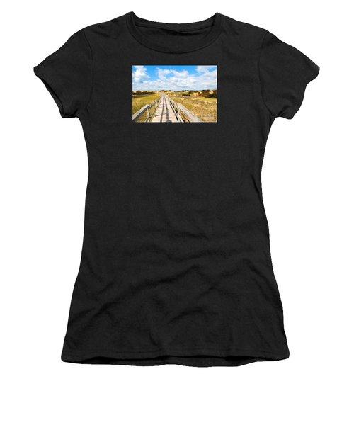 Seabound Boardwalk Women's T-Shirt (Athletic Fit)