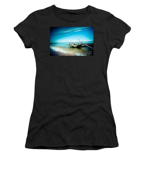 Seacost With Old Tree In Water Kolka Women's T-Shirt