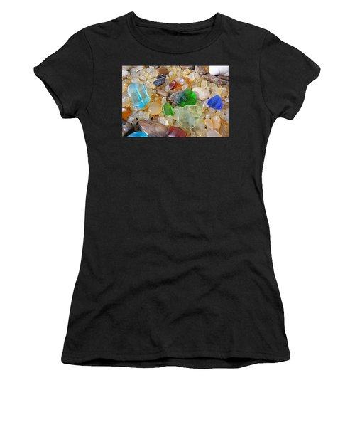 Seaglass Art Prints Sea Glass Agates Women's T-Shirt
