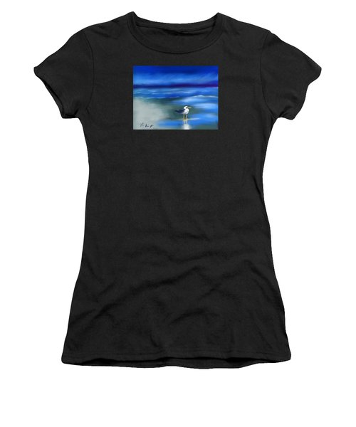 Seagull Standing 2 Women's T-Shirt (Athletic Fit)