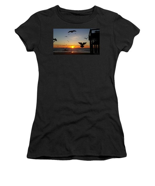 Seagulls At Sunrise Women's T-Shirt