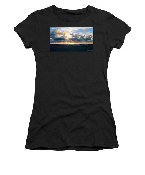 Seagulls On The Beach At Sunrise Women's T-Shirt