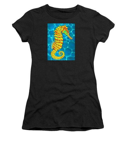 Seahorse - Exotic Art Women's T-Shirt (Athletic Fit)