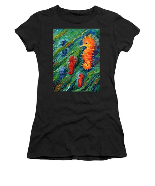 Seahorse  Women's T-Shirt (Athletic Fit)