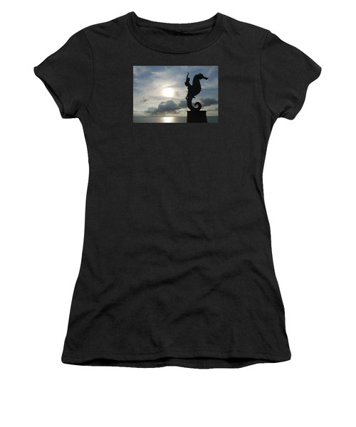 Seahorse Silhouette Women's T-Shirt (Athletic Fit)