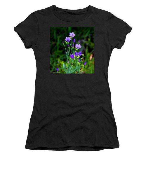 Seaside Gentian Wildflower  Women's T-Shirt