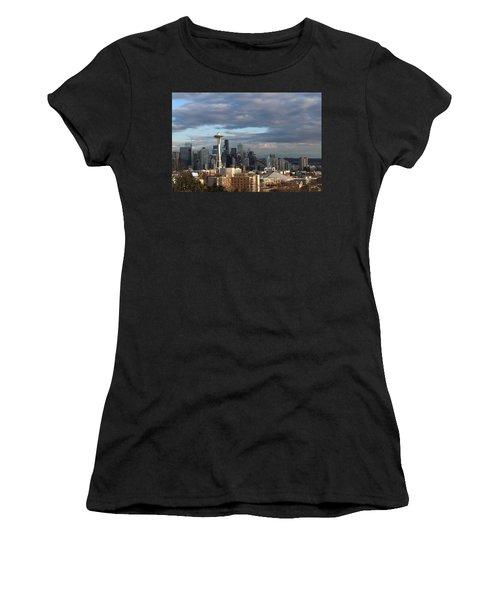Seattle Skyline Women's T-Shirt (Athletic Fit)