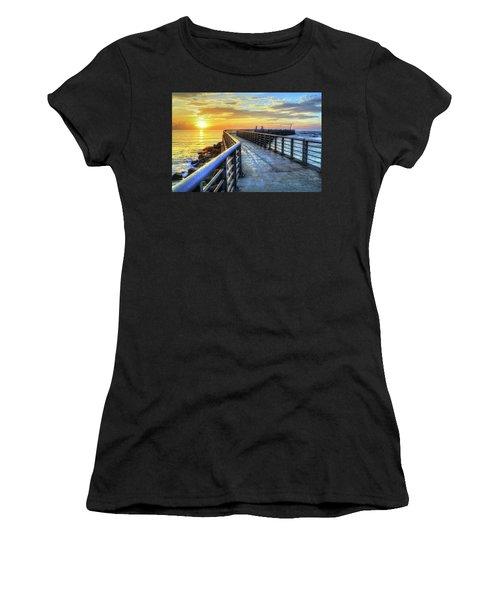 Sebastian Inlet Pier Along Melbourne Beach Women's T-Shirt