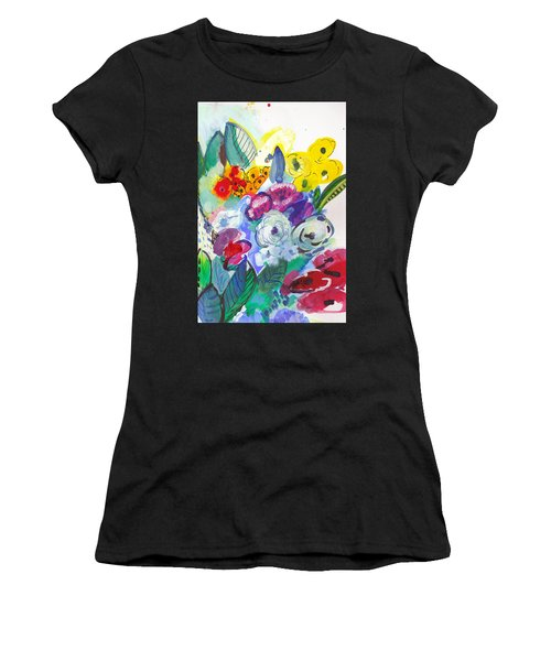Secret Garden With Wild Flowers Women's T-Shirt (Athletic Fit)