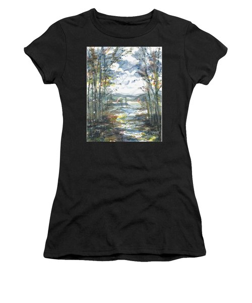 Women's T-Shirt featuring the painting Secret Sailing Spot by Reed Novotny