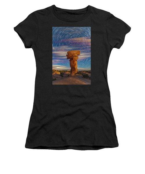 Secret Spire And Star Trails Women's T-Shirt