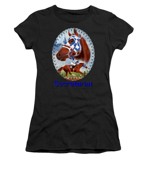 Secretariat Racehorse Portrait Women's T-Shirt