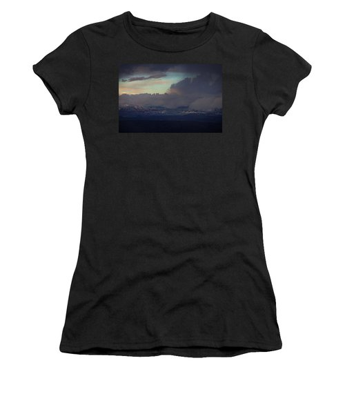 Sedona At Sunset With Red Rock Snow Women's T-Shirt